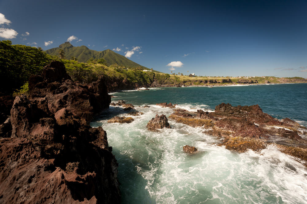 The famous black rocks of St. Kitts. Image courtesy of the St. Kitts Tourism Authority.
