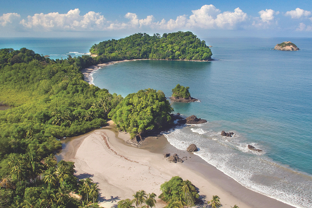 Aerial view of Manuel Antonio National Park. Image courtesy of Costa Rica Tourism Board.