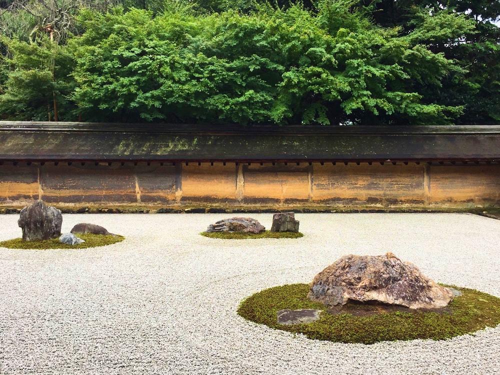The Zen rock garden at Ryoan-ji