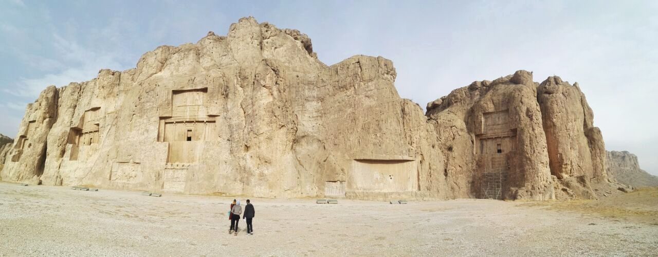 The ancient necropolis tombs, Naqsh-e Rustam, located in Fars Province, Iran.