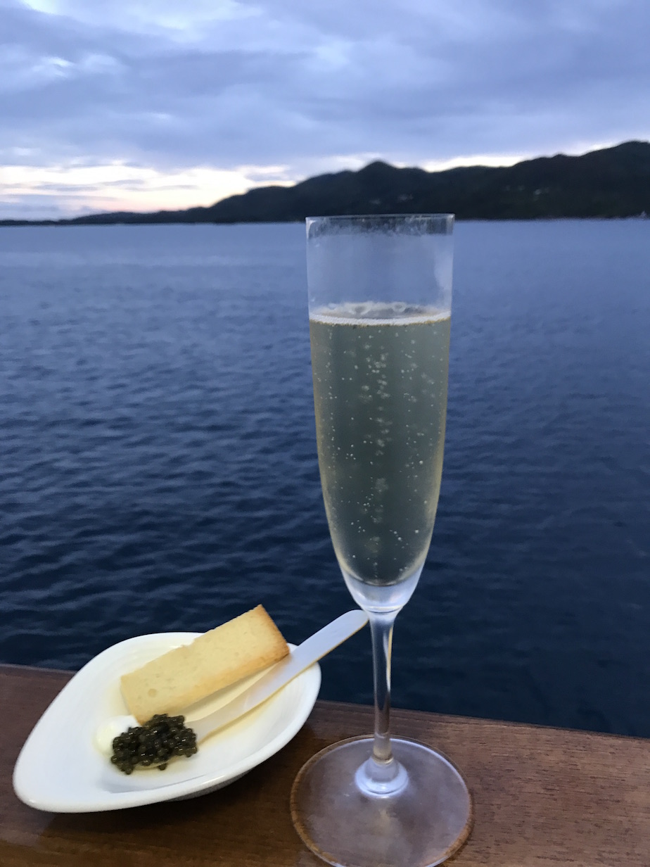Champagne and caviar cuz #yachtlife