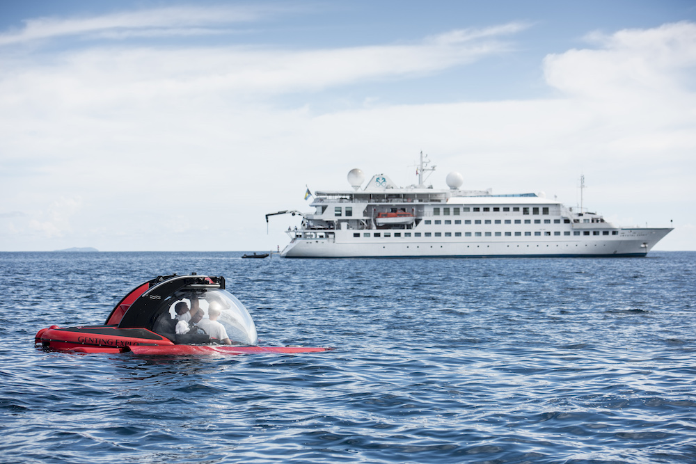 The Submersible in the Seychelles. Image courtesy of Crystal Cruises.