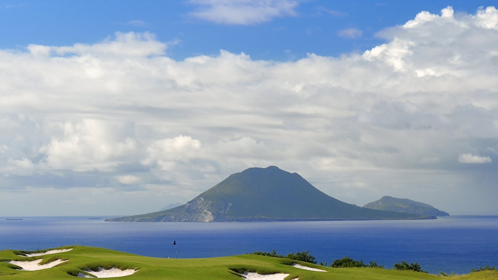 The view from Irie Fields, Belle Mont Farm's 18-hole, organic golf course. Image courtesy of Belle Mont Farm.