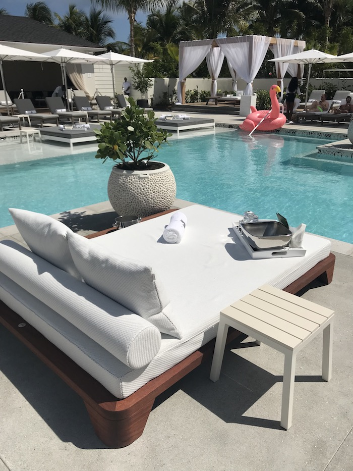 Daybeds and cabanas are available at the adults-only pool, Privilege.