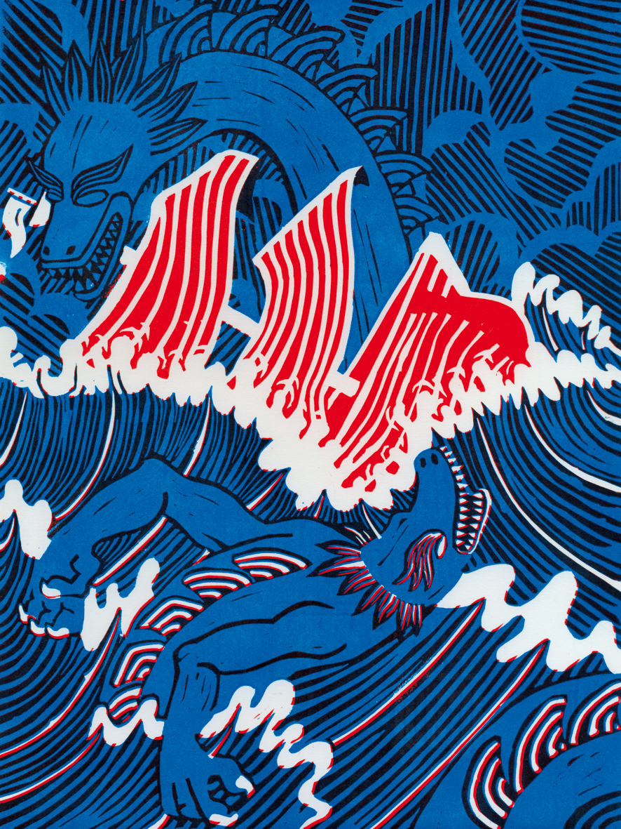MATIEU.Z:ATTACK OF TWO SEA MONSTERS:2013.jpg