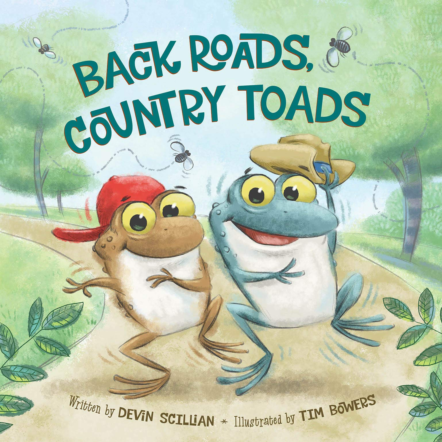 Cover of Backroads, Country Toads by Devin Scillian and Tim Bowers. TOADally awesome!