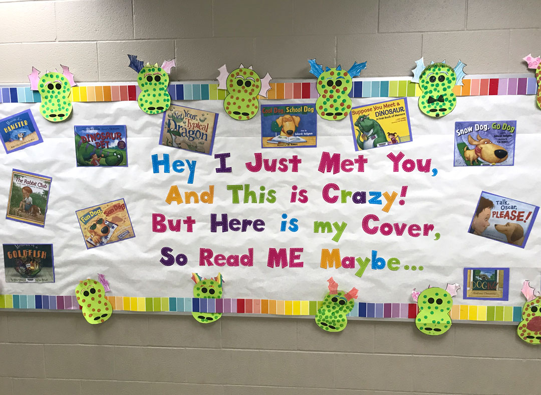 School displays like this, always make me smile. Kids and books…a winning combination.