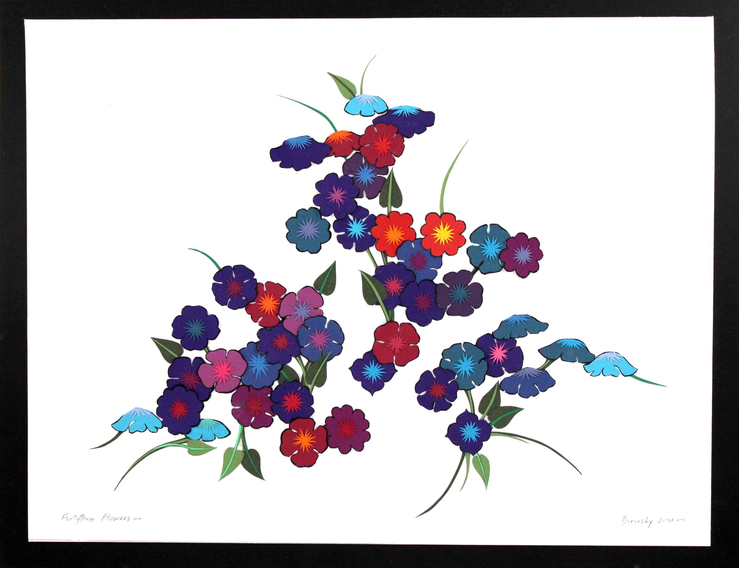 Forty-three Dark Flowers    19 x 16  $425
