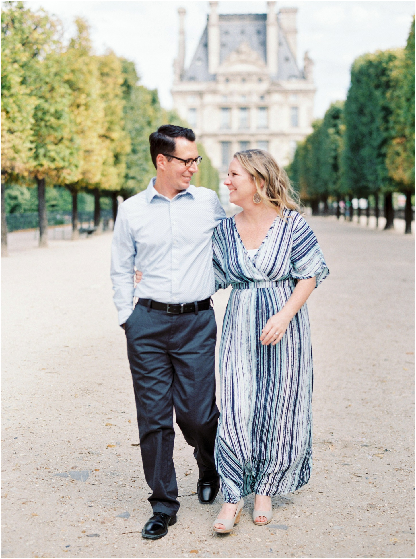 Jardin de Tuileries - nothing beats the stunning rows of trees, quiet outdoor cafes, or architectural backdrops for your romantic photo shoot in Paris!