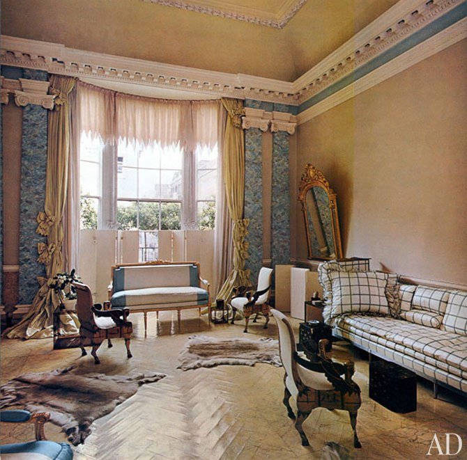 John Fowler for Pauline de Rothschild, Architectural Digest May/June 1977