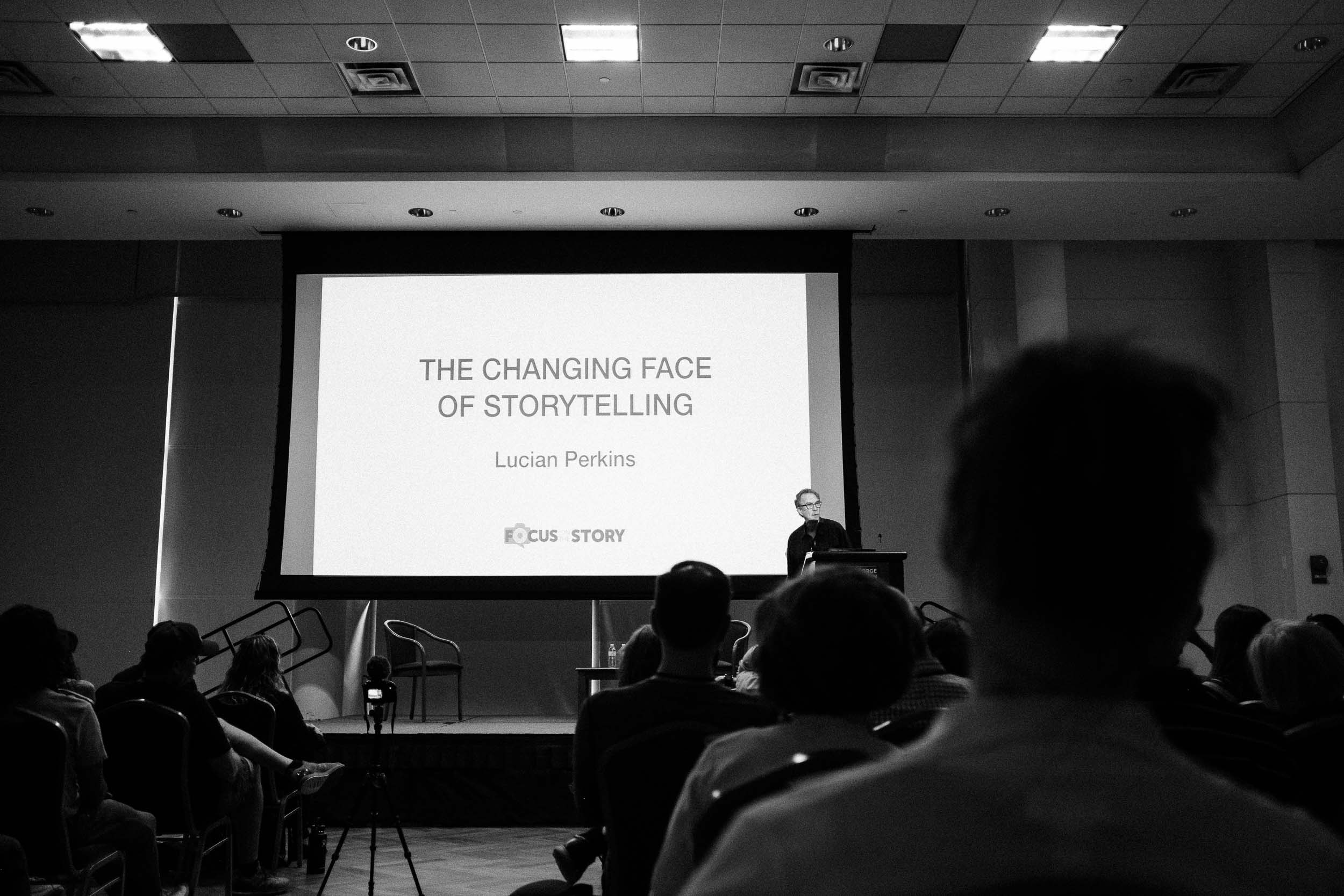 Lucian Perkins formerly of the Washington Post discussing his favorite photo series over the years and how technology is changing visual story