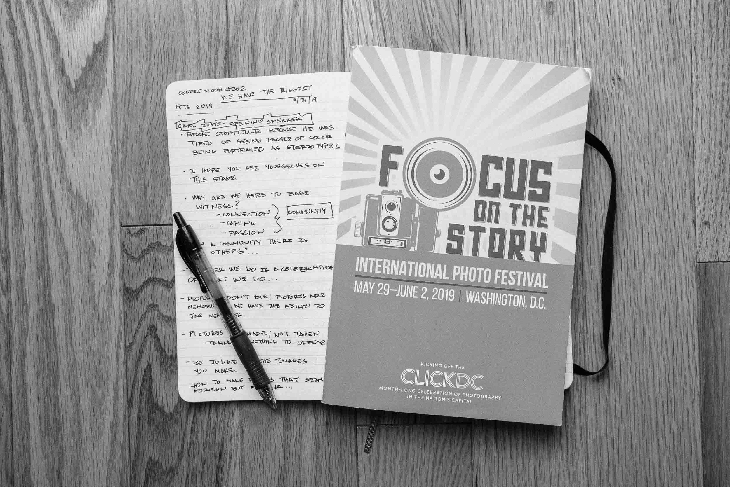 Three days worth of notes for a lifetime of inspiration.