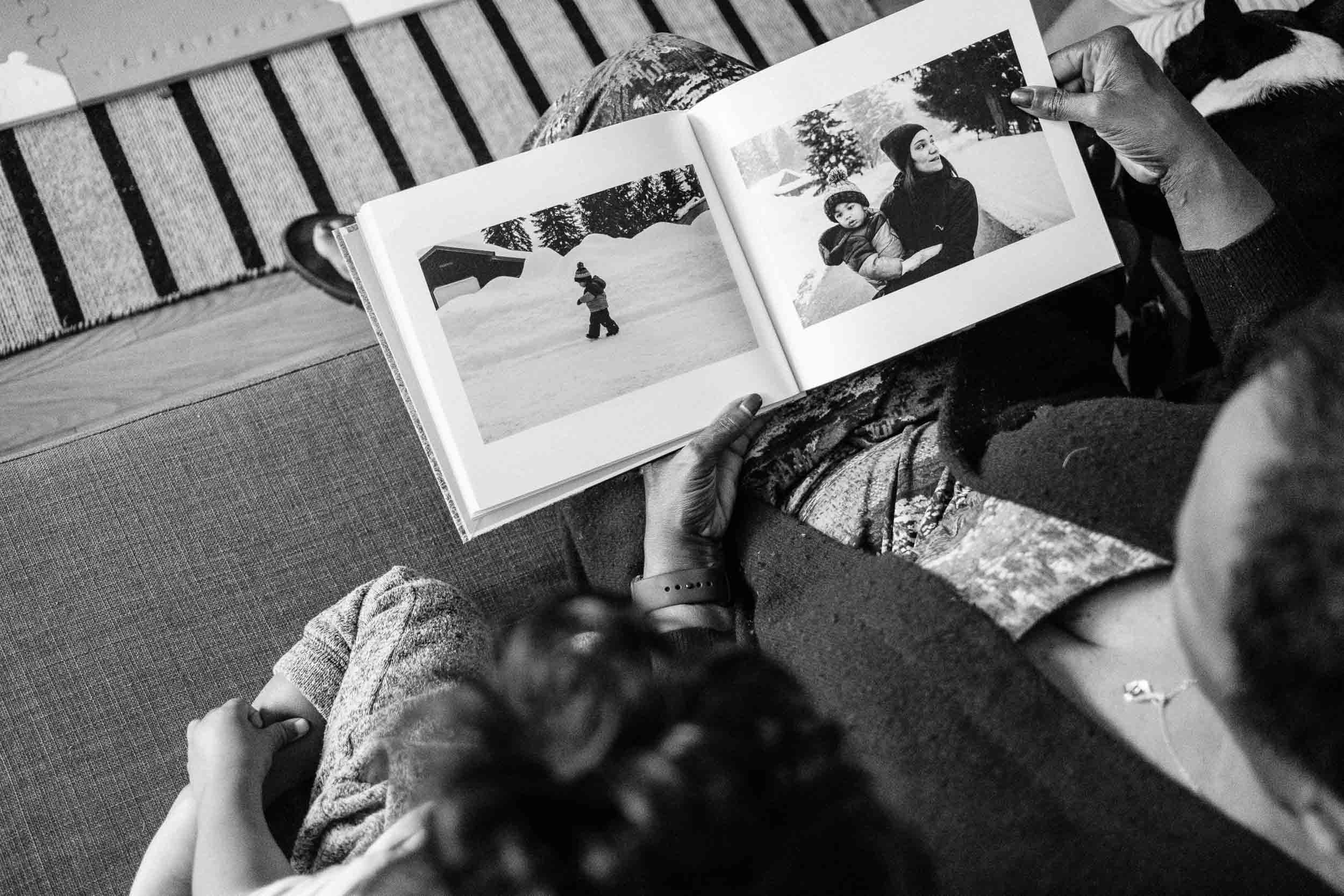 Documenting my family since our son was born. Each year a new photo book is made, Gramma Mimi and our son Theo looking at the latest edition.