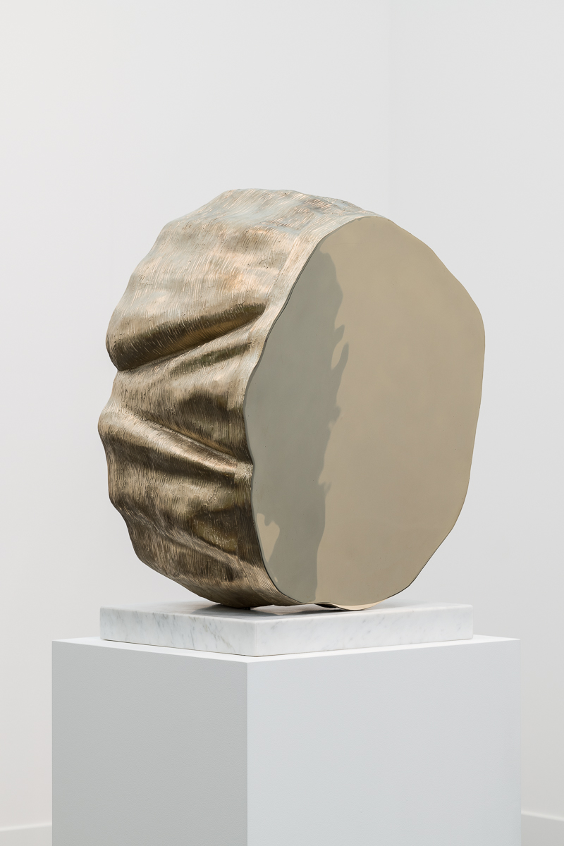 Thomas J Price, Power Object (Section 1, No.1), 2018, Aluminium bronze composite with marble base, Bronze 62 x 44 x 32 cm, Marble 5 x 40 x 40 cm, T_PRI0088, Photo by Damian Griffiths, Detail 1.jpg