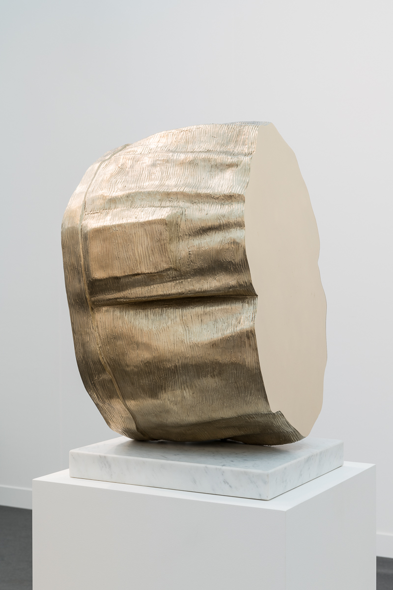 Thomas J Price, Power Object (Section 1, No.1), 2018, Aluminium bronze composite with marble base, Bronze 62 x 44 x 32 cm, Marble 5 x 40 x 40 cm, T_PRI0088, Photo by Damian Griffiths, Detail 2.jpg