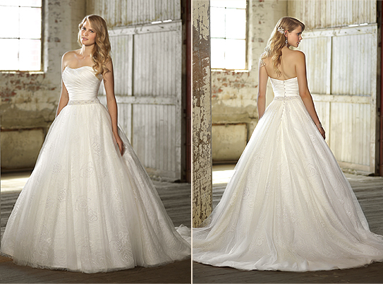 Essence of Australia Lace Tulle Ball Gown, $1200