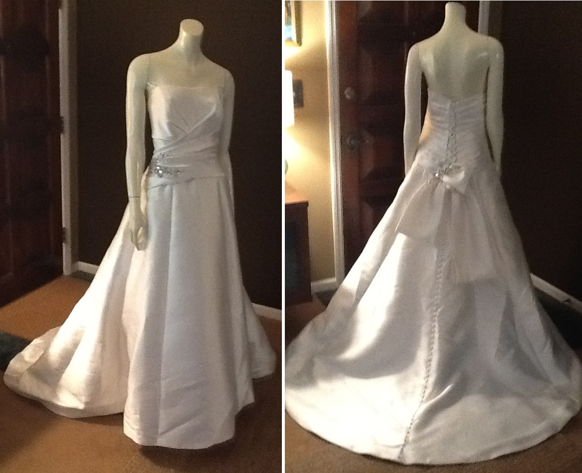 Alfred Angelo Ball Gown with Crystal Embelishment, $550
