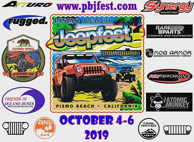 Hoping everyone has a nice long weekend and can spend time with their family, Jeep included. Be sure to register for Pismo Beach Jeep Fest before July for an extra raffle ticket and chance to win an early prize give away.