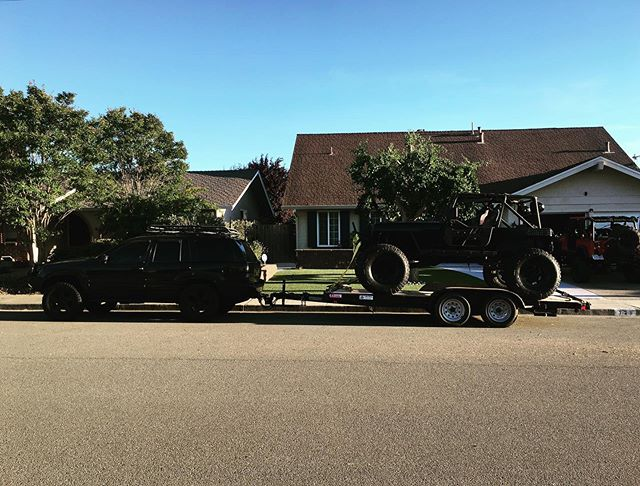 Ahh. There's the missing link. Now I just need to blackout the trailer to match the Jeeps. #blackjeepbattalion