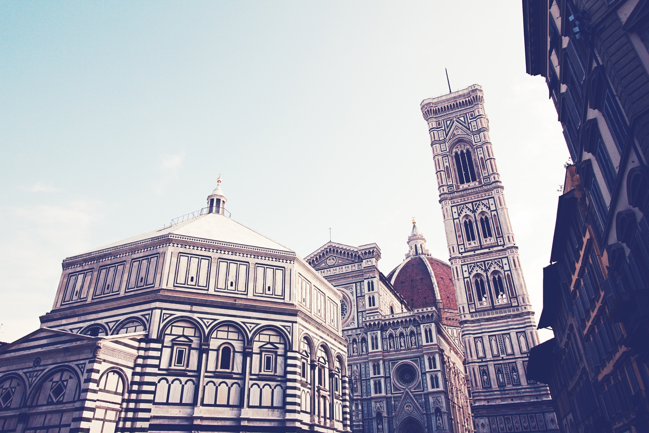 Exterior of the Bell Tower, Baptistry and Duomo