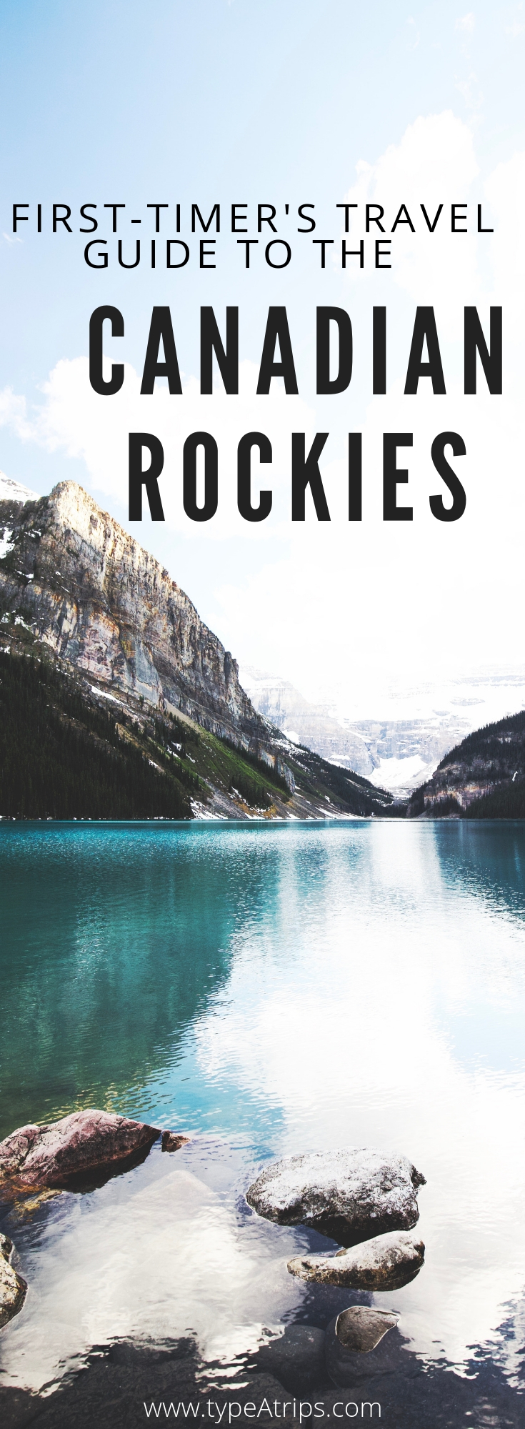 ALL YOU NEED TO KNOW FOR THE PERFECT CANADIAN ROCKIES VACATION - In my latest Travel Guide, I'm giving you all of my type-a tips for visiting the majestic Canadian Rockies. If you're seeking beauty and adventure, the Canadian Rockies is the perfect North American destination to check off of your bucket list. From Banff and Lake Louise, the Icefields Parkway up to Jasper, I've got all you need to know to plan the perfect vacation - JUST CLICK HERE!