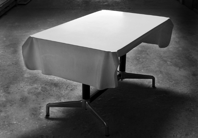 FLOW Fabric Formed Concrete Table