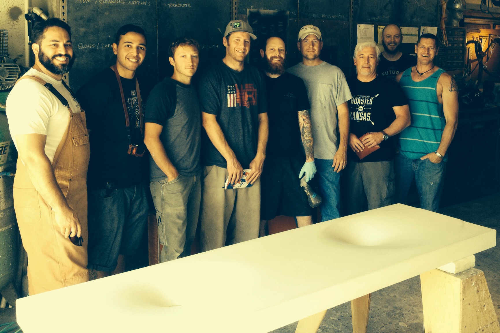 June 2014 GFRC Concrete Countertop and Sink Class Photo
