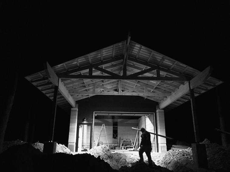 Plumbing at night.