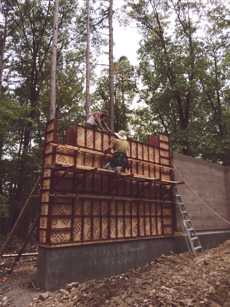 We got a pretty good system down. When we got to the top of this wall we were 14' up!