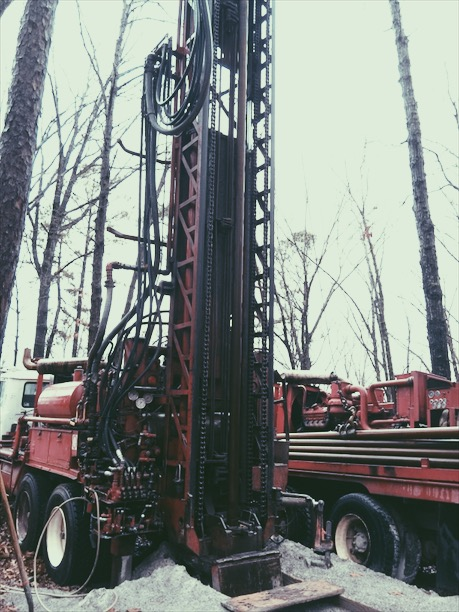 Next was drilling the well, we went nearly 1500' to the aquifer!