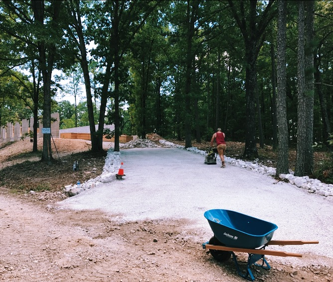 Aaron and I put in this driveway over the three hottest, most humid days of the summer.