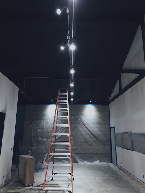 I bent all the conduit and wired all of the lights. If concrete doesn't work out I'm going to go into the conduit bending business, it is very satisfying.