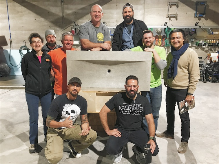 The class photo from the first ever class held at the new Concrete Design School Studio!