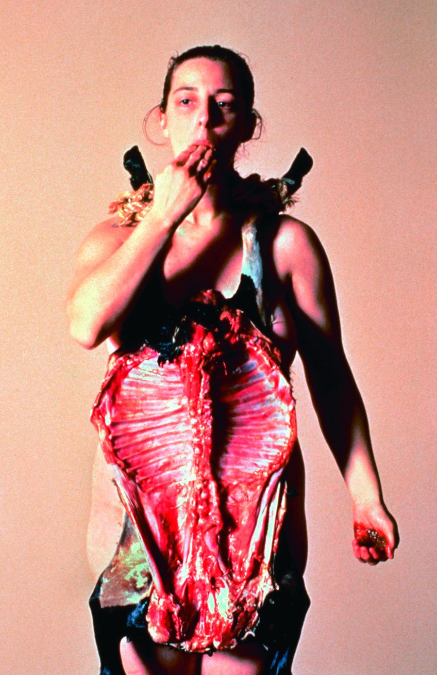Tania Bruguera, The Burden of Guilt, 1997–99. Image courtesy of Museo de Bellas Artes, Caracas.