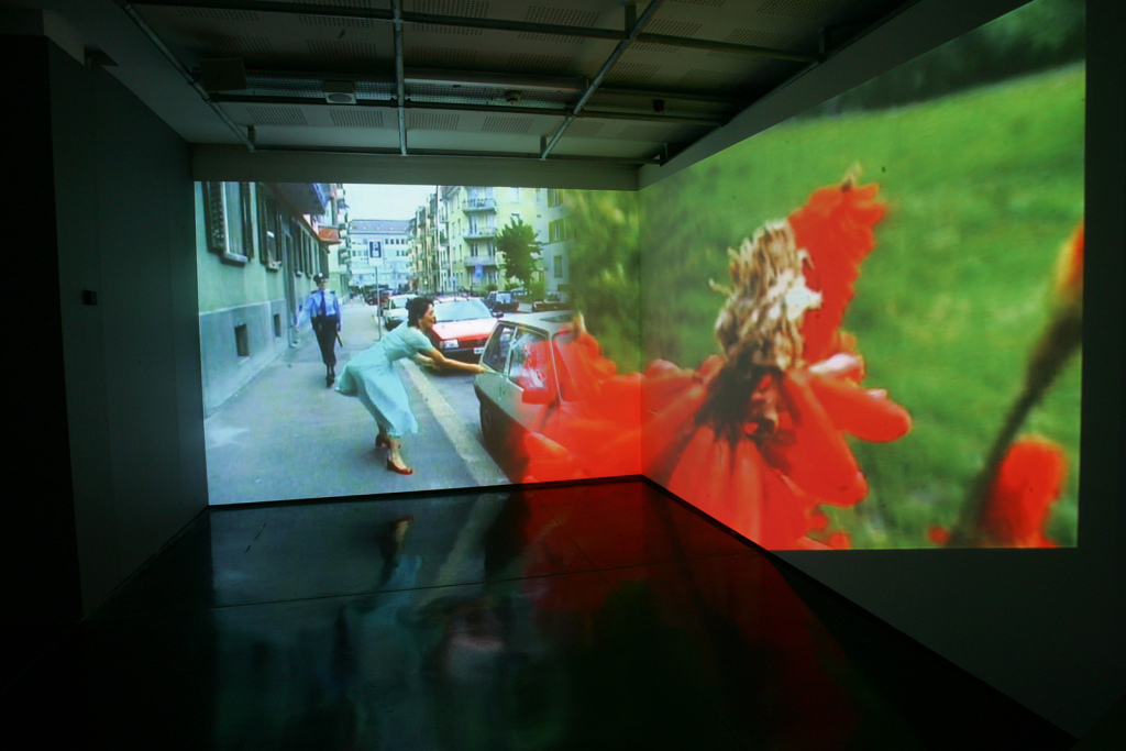 "Detail from Pipilotti Rist, ""Ever is Over All"" (1997)"