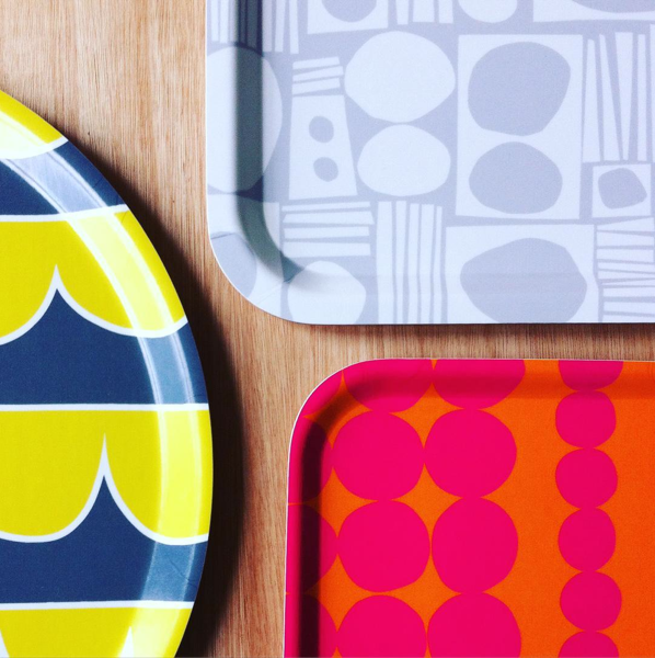 Bright and bold patterned serving tray by The Store Hus www.thestorehus.co.uk