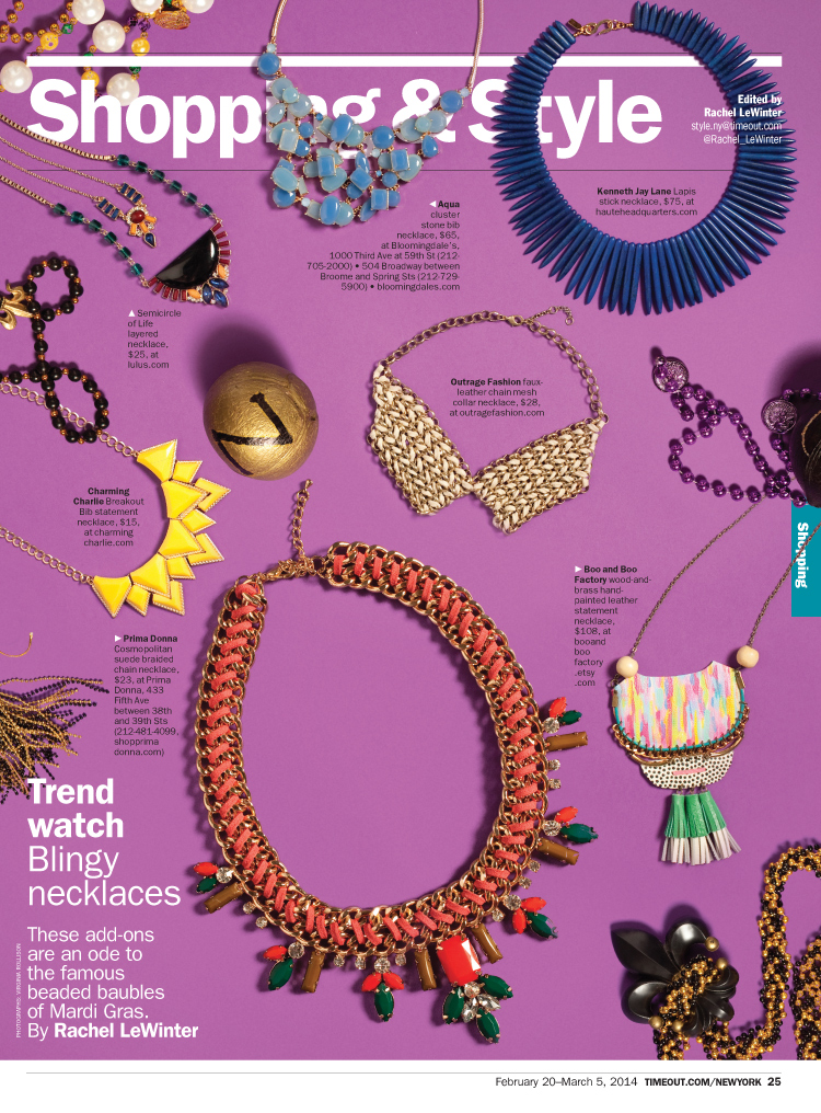 Blingy necklaces for Mardi Gras