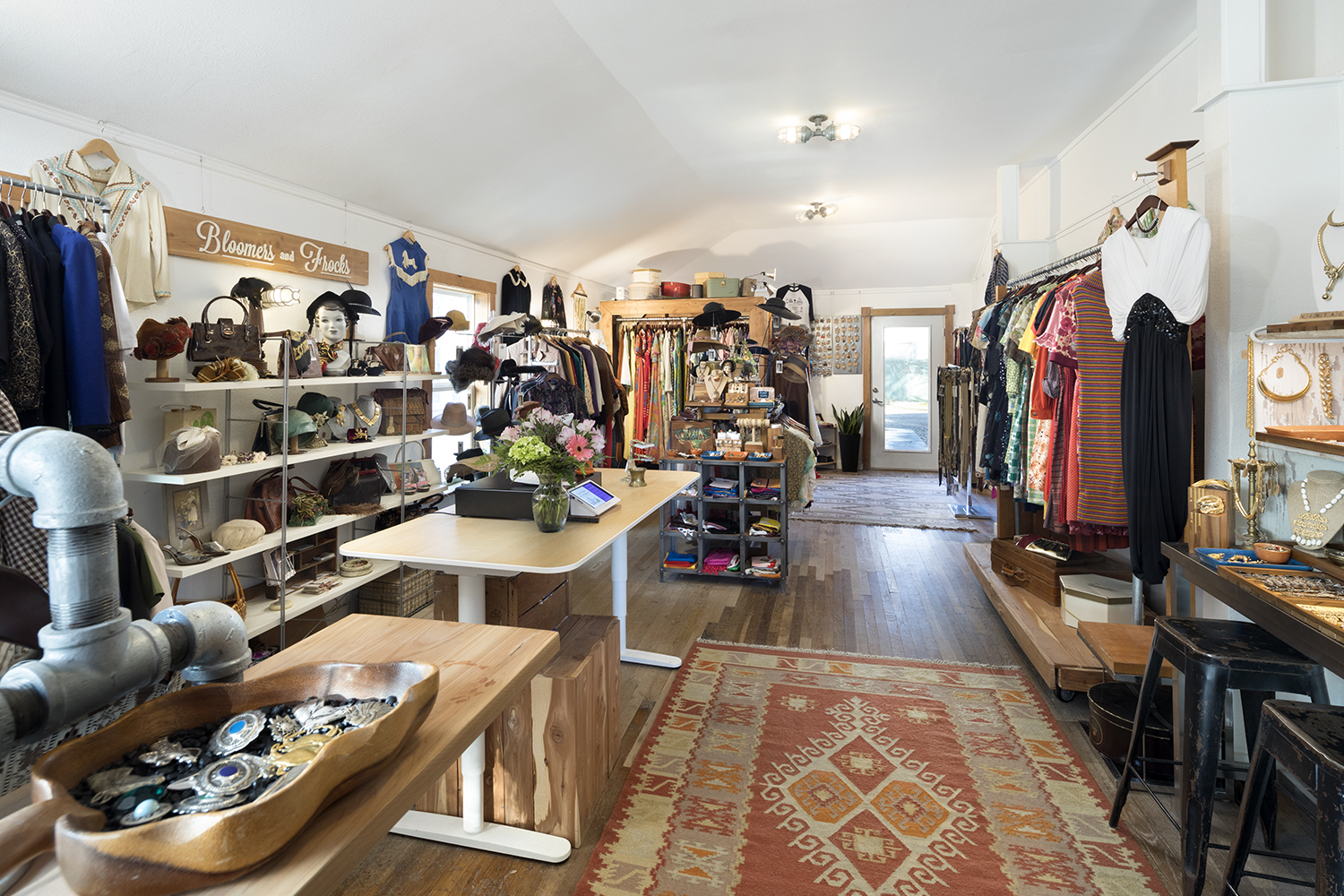 Bloomers and Frocks Interior VIntage Clothing Boutique