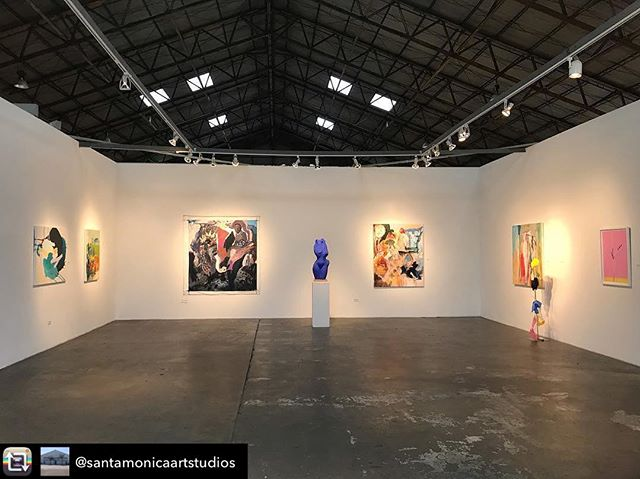 Estimated Time of Arrival curated by Kristin Zethren in #arena1gallery features the artists of #santamonicaartstudios as part of our @moreartheresmaspop-up show and casual open studios. We're open all weekend with an artists reception Sat Feb 16, 6-9pm.