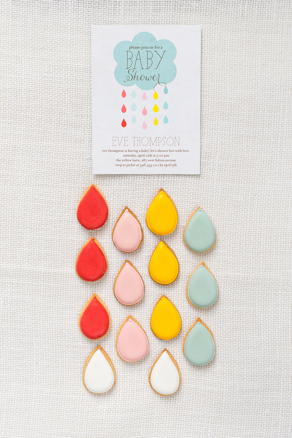 Tiny Prints Baby Shower Invitation + Sweet Kiera Cookies