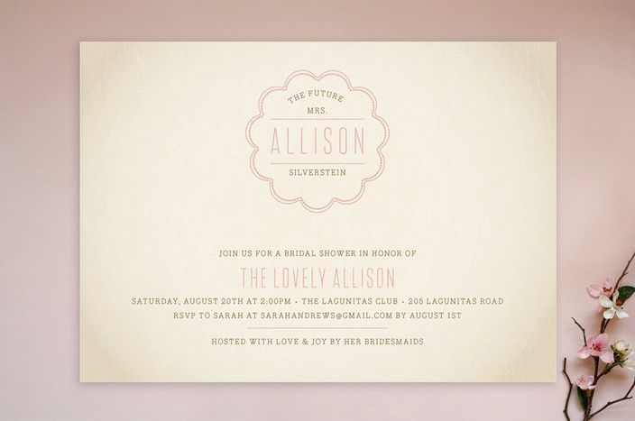 """Source: """"Bonne Amie Bridal Shower"""" from  Minted"""