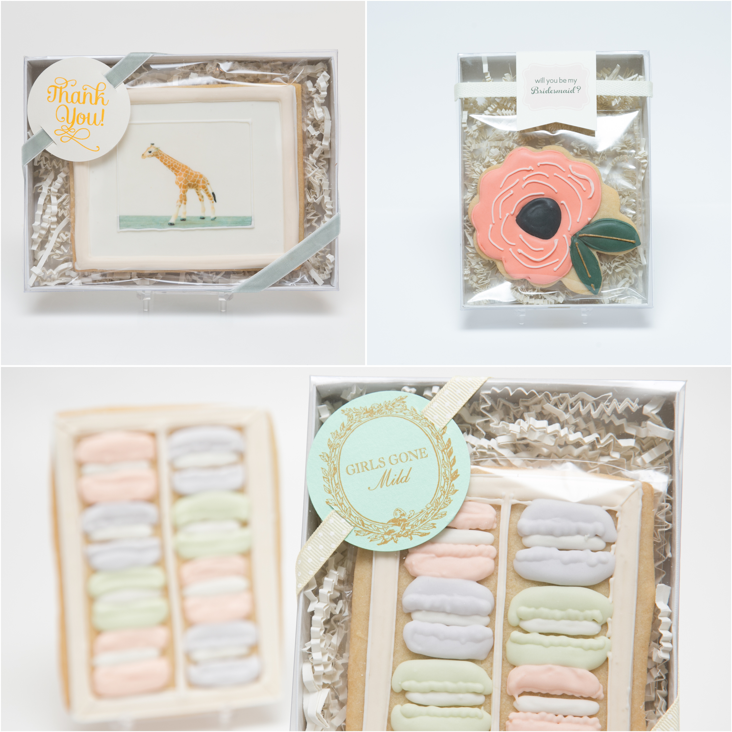 Favor Boxes with Ribbon and Tag