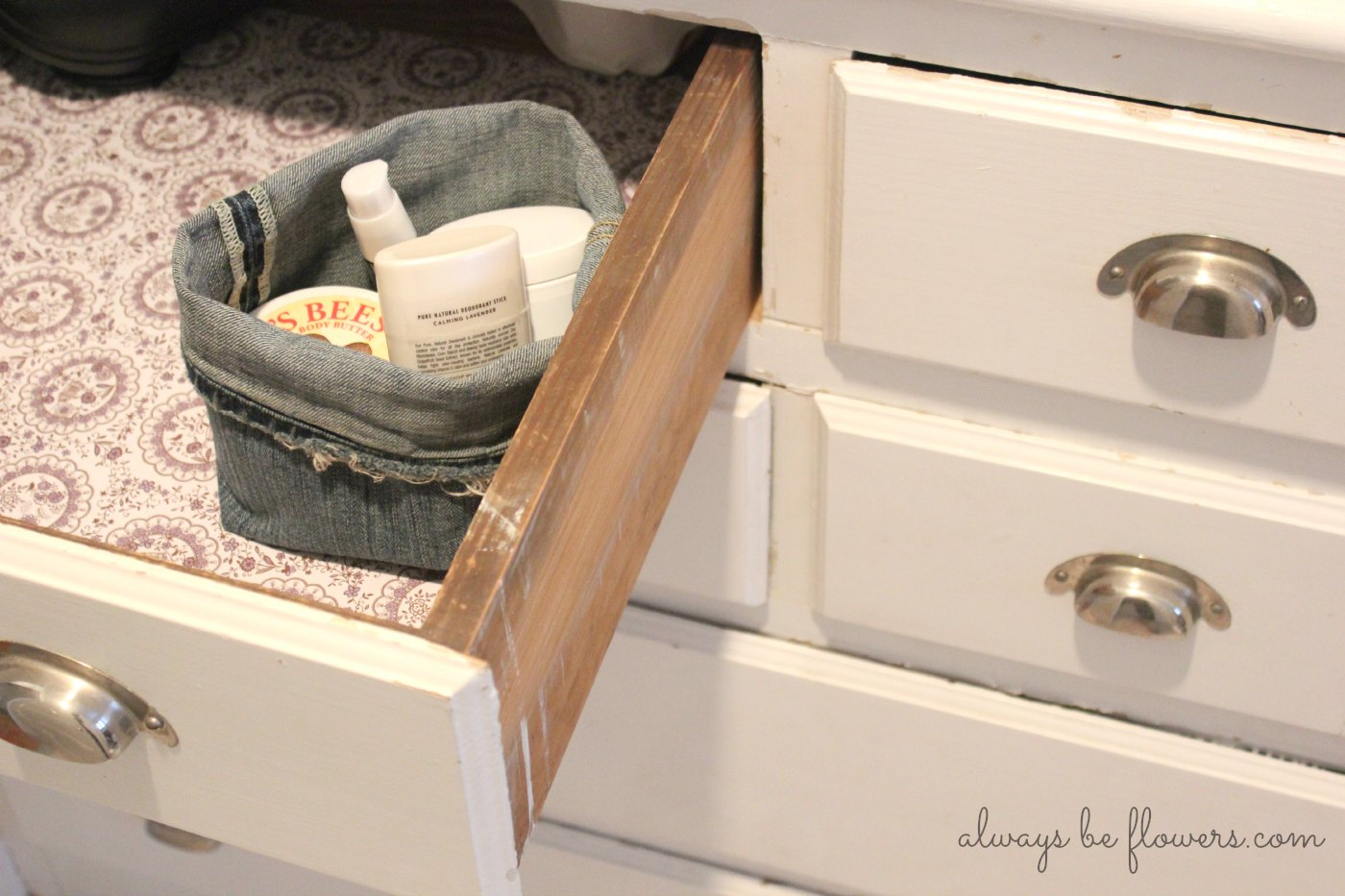 I think this style of fabric basket will make a good drawer organizer.
