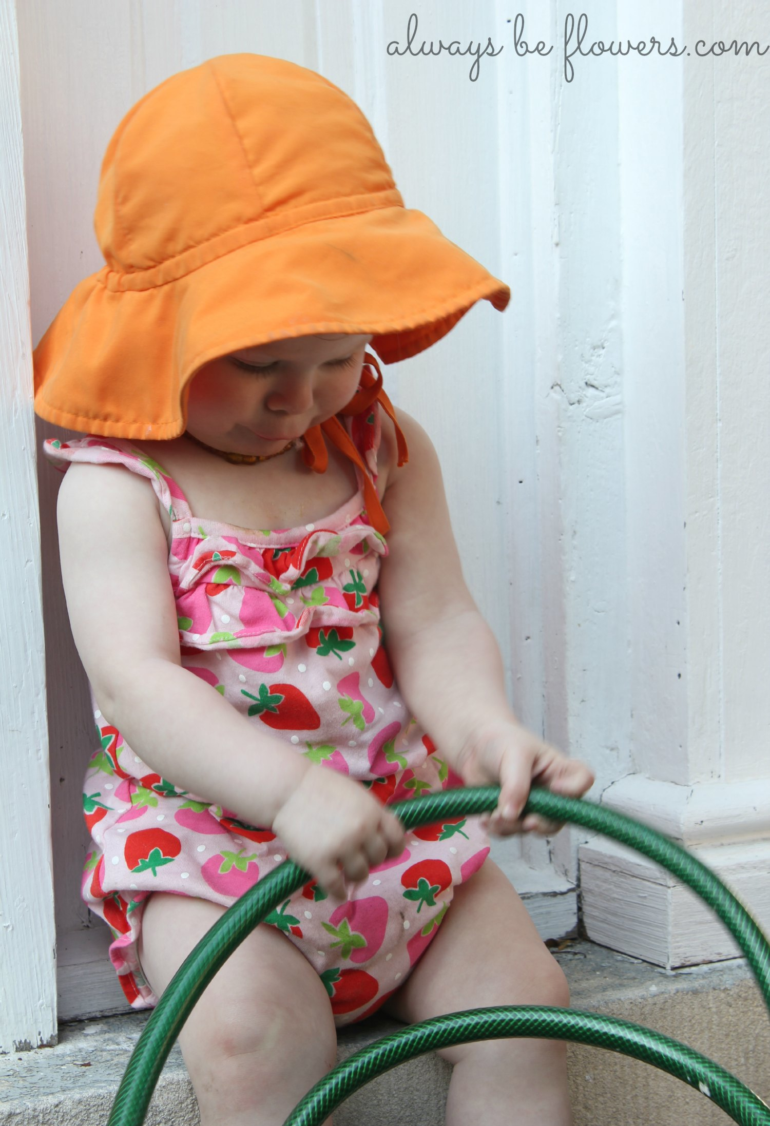 Watering seems to be fascinating to my toddler.
