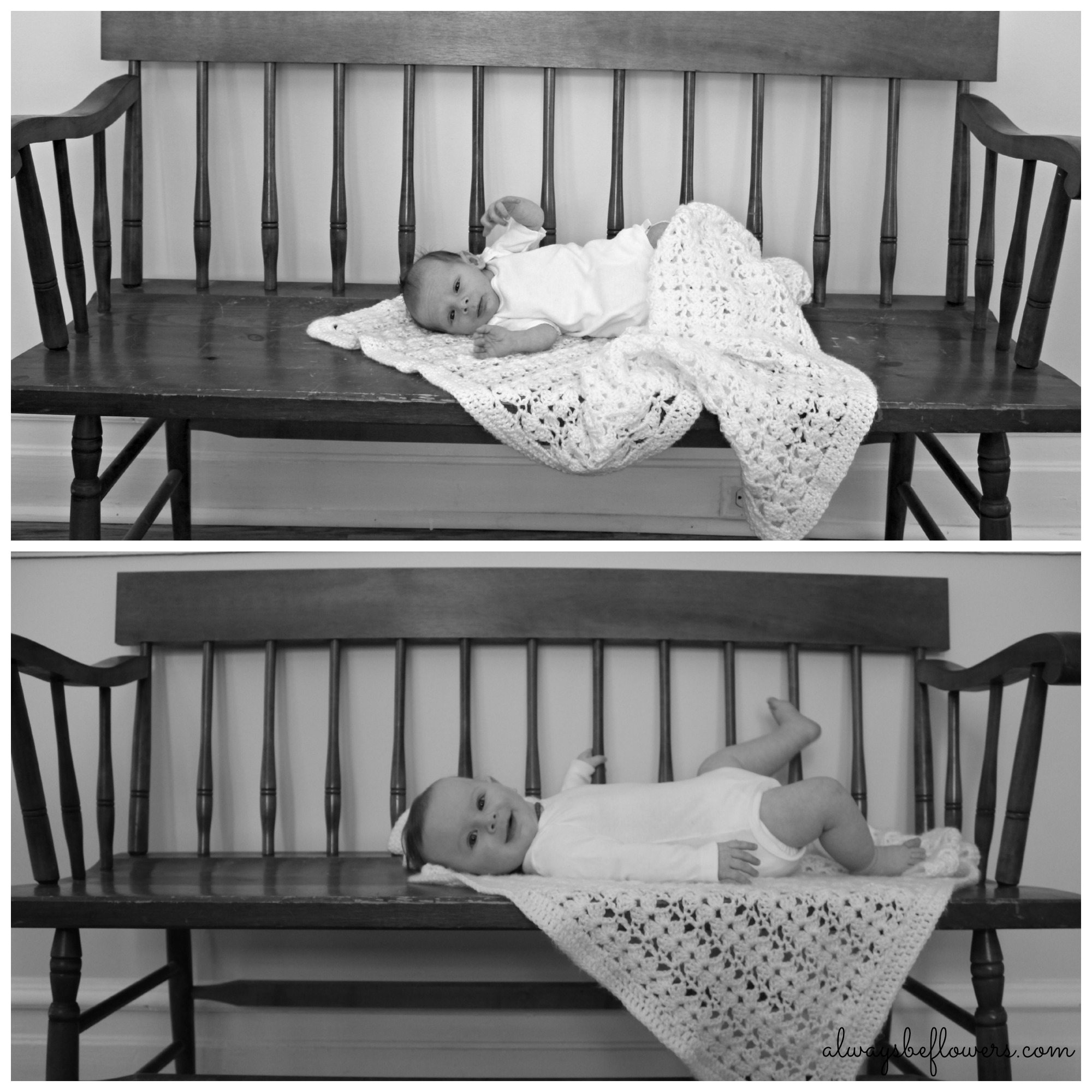 Black and white baby bench photos.jpg