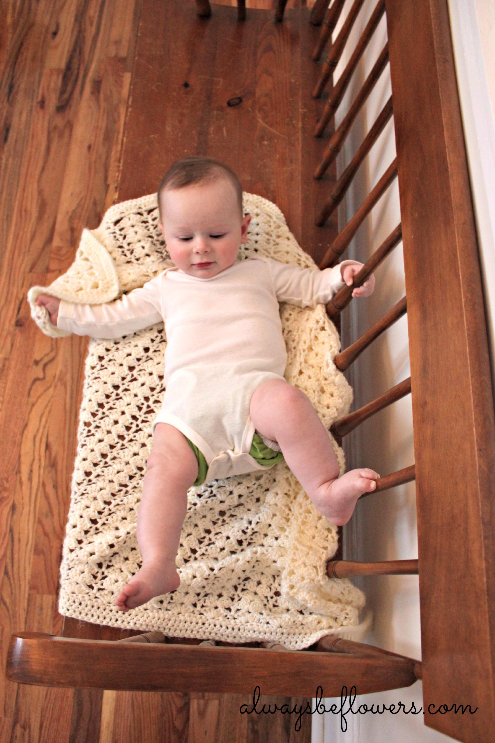 Baby on a bench-Mom photographer fail!