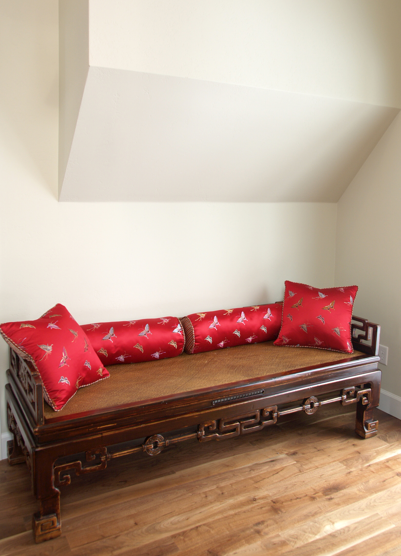 chinese day bed with cushions by Susan Gilmore