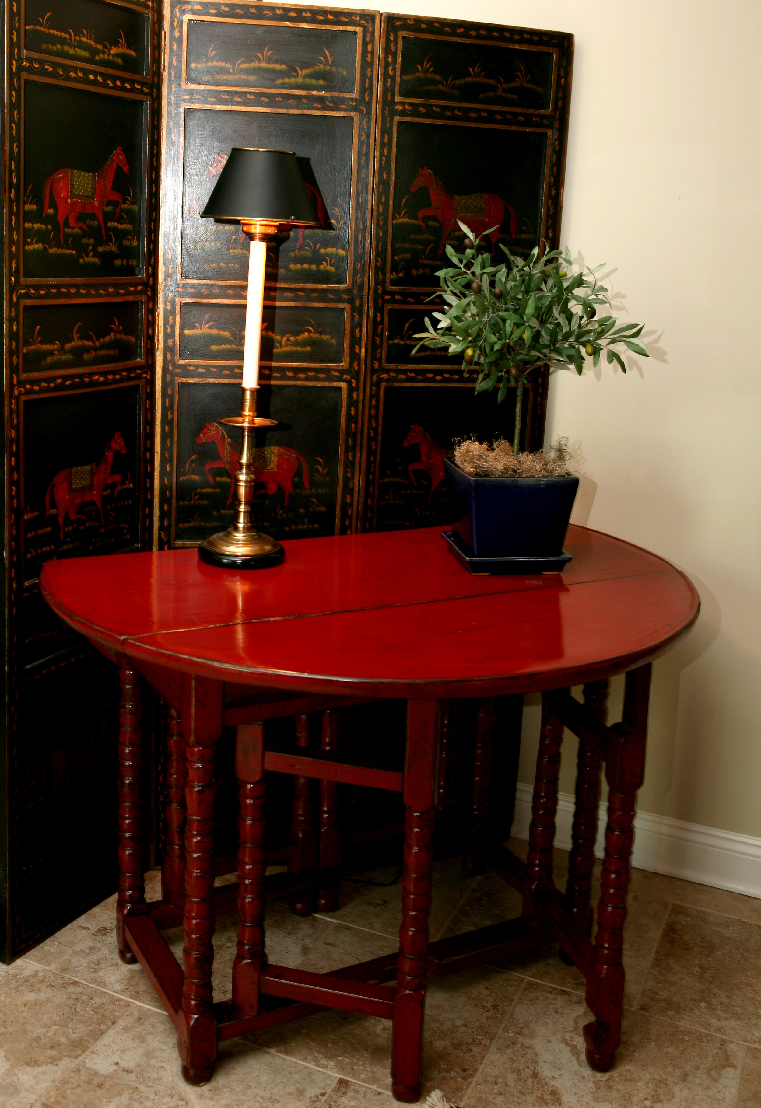 red gate leg table