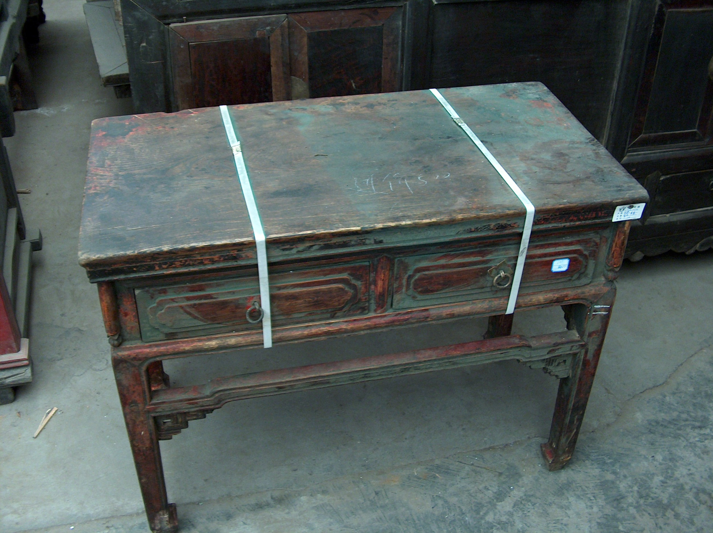rare pear wood desk