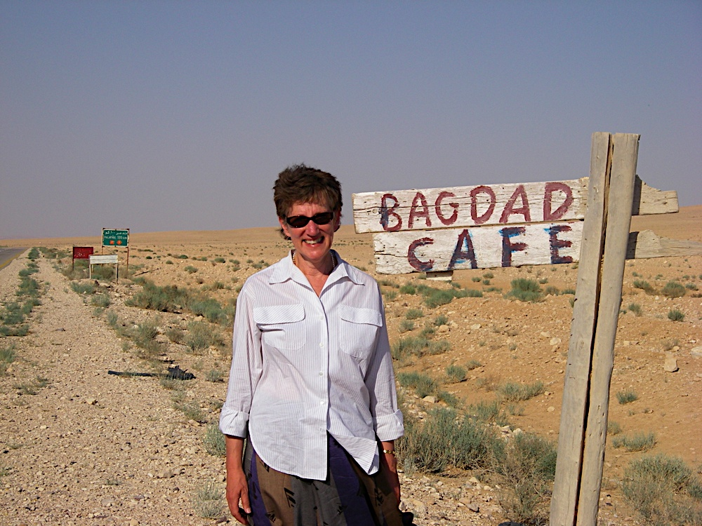 near the bagdad cafe on the road to palmyra, syria